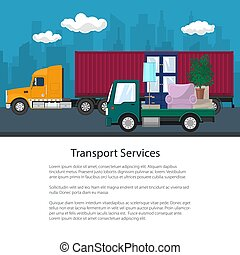 Cargo Truck and Lorry with Furniture, Brochure