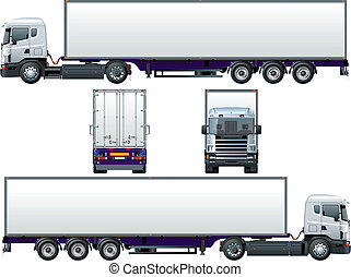 cargo truck - Available EPS-8 vector format separated by ...
