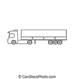 Cargo truck. Delivery of goods. Simple drawing. Vector illustration on white background. EPS10