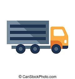 Cargo truck flat illustration