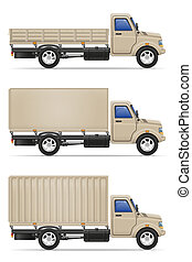 cargo truck for transportation of goods illustration
