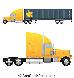 Cargo truck - Heavy cargo truck for a international...