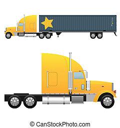 Cargo truck - Heavy cargo truck for a international ...