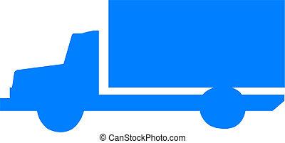 Cargo truck silhouette