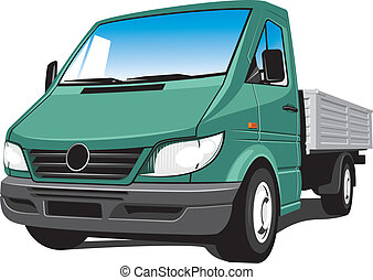 Cargo truck - Vector isolated delivery, cargo truck