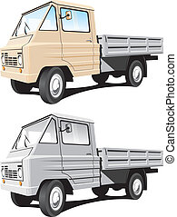 Cargo truck - Vector isolated delivery cargo truck