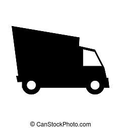 cargo truck vehicle silhouette