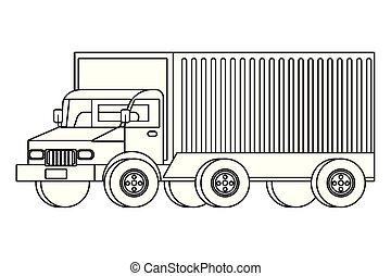 cargo truck vehicle transport cartoon