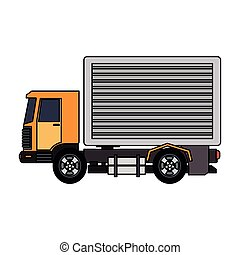 Cargo truck vehicle vector illustration graphic design