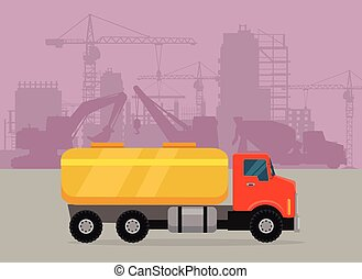 Cargo Truck with Tank for Transporting Liquids