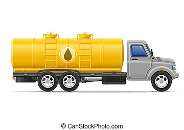 cargo truck with tank for transporting liquids illustration