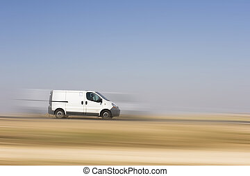 Cargo van - Cargo Truck with blank body ready for your text...