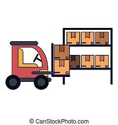 Cargo vehicle and warehouse