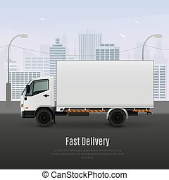 Cargo Vehicle Realistic Composition