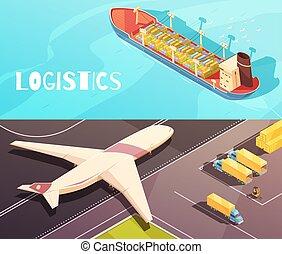 Cargo Vessel Banners Set