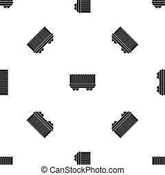 Cargo wagon pattern seamless black