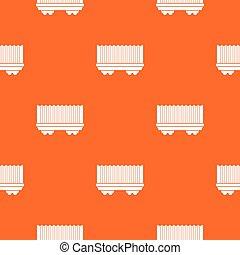 Cargo wagon pattern seamless