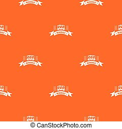 Cargo wagon pattern vector orange
