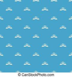 Cargo wagon pattern vector seamless blue