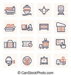 cargo_logistics_icon - Logistics icons sets.