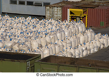 Cargro - Shipping cargo in the cargo port of Sankt...