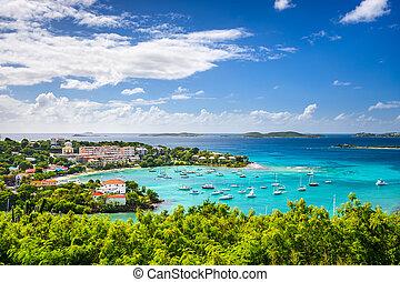 Caribbean Bay - Cruz Bay, St John, United States Virgin...