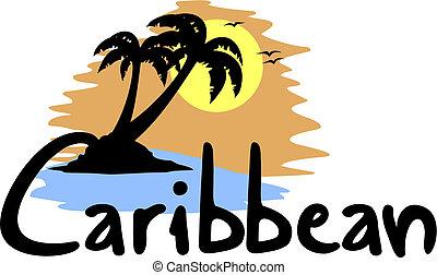 Caribbean beach - Creative design of Caribbean beach
