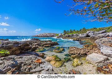 Caribbean beach in Mexico