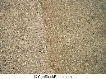 Caribbean beach sand shore detail