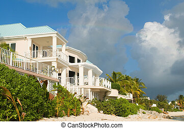 Luxury home on the beachfront in Grand Cayman