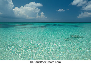 Caribbean blue sea water