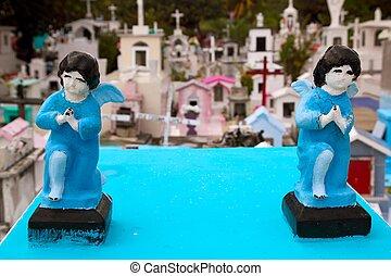 Caribbean cemetery catholic angel saints figures - Caribbean...