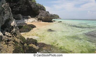 Caribbean coast during the sunny day