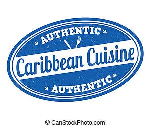 Caribbean cuisine stamp