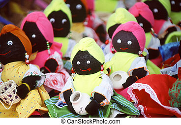 Caribbean Dolls - Caribbean dolls at a local market.