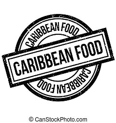 Caribbean Food rubber stamp
