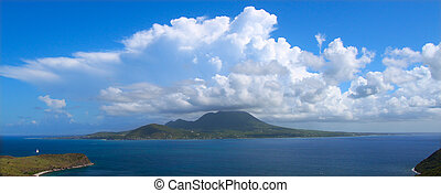 Caribbean island of Nevis