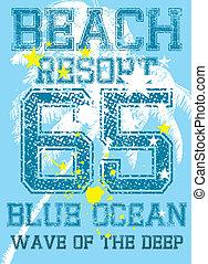 caribbean island vector art - caribbean island palm beach...
