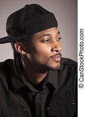 Caribbean man portrait in studio