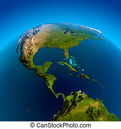 Caribbean, Pacific and Atlantic Oceans