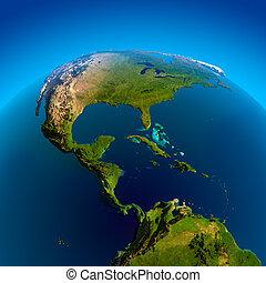 Caribbean, Pacific and Atlantic Oceans - Mexico, Guatemala,...