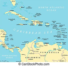 Caribbean Political Map