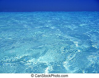 Caribbean sea blue turquoise water in Cancun