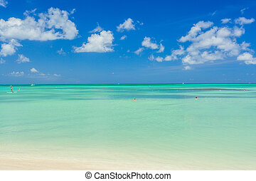 Aruba island. View from the beach