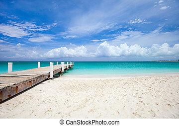 Caribbean sea - Beautiful beach at Caribbean Providenciales...
