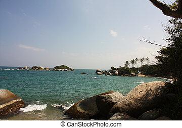 Caribbean sea. Tayrona National Park. Colombia