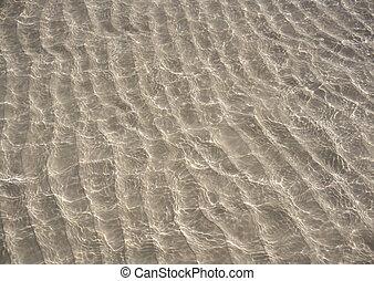 Caribbean transparent water beach reflection