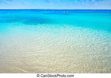 Caribbean tropical beach turquoise water
