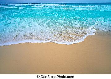 caribbean, white homok, tengerpart, turquoise tenger