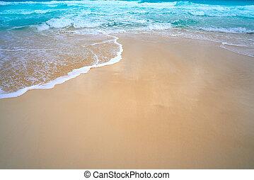 Caribbean white sand beach turquoise sea
